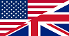 United Kingdom and United flags together divided in the middel diagonally