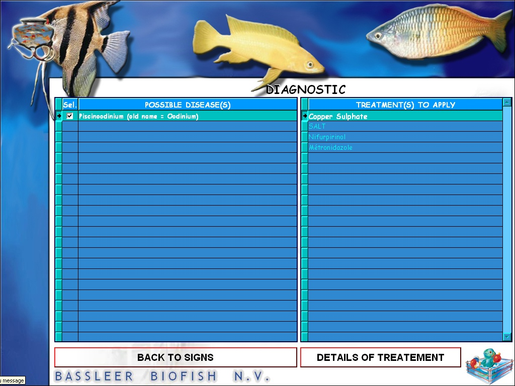 An English preview of the diagnostic in the software of the DVD rom