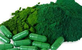 Green powder and in pills