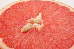Grapefruit cut in the middle