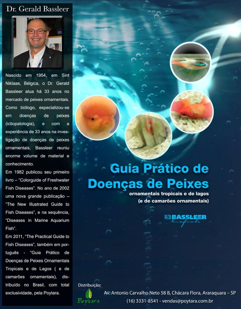 Brazilian back cover of the book The Practical guide to fish diseases