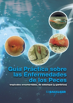 Spanish cover of the book The Practical guide to fish diseases