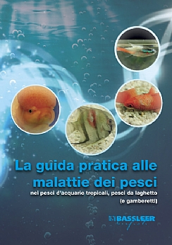 Italian cover of the book The Practical guide to fish diseases