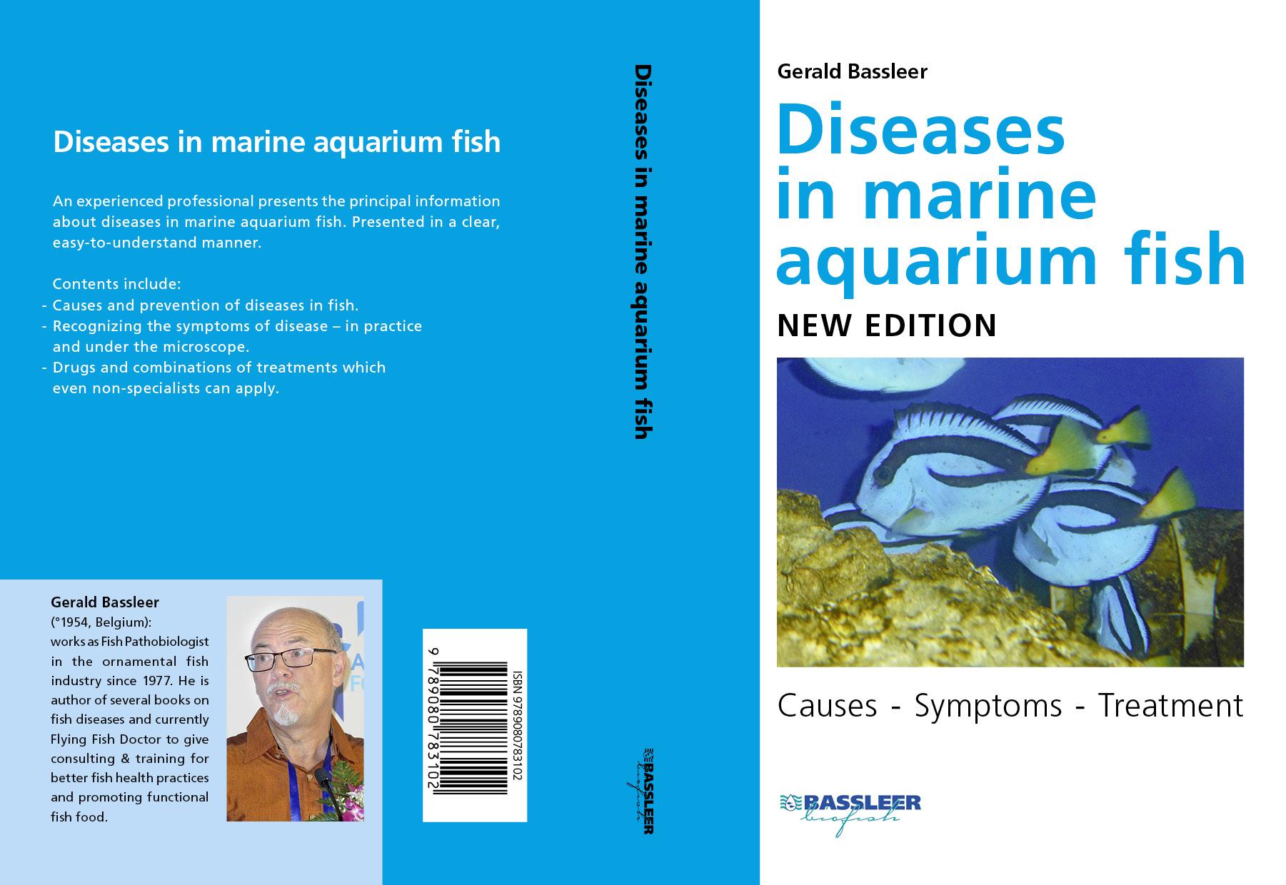 English cover of the book Diseases in marine aquarium fish